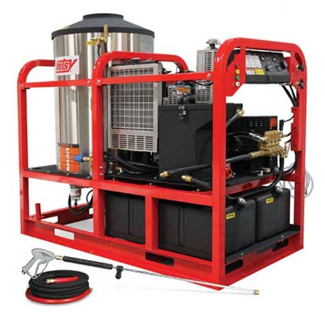 Hotsy Super Skid HSS Series - Largest, Most Powerful Hot Water Pressure Washer