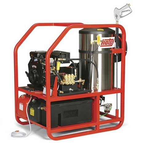 Hotsy 1200 Series line of rugged gasoline engines deliver serious hot water cleaning power