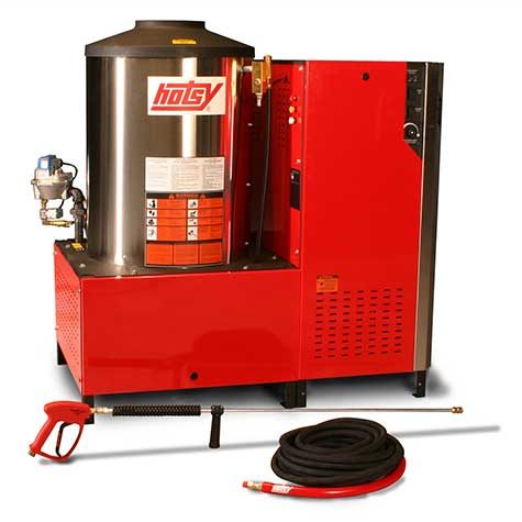 Hotsy 1800 Series Hot Water Pressure Washer - Compact, affordable solution for indoor hot water cleaning