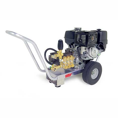 Hotsy'sHD Series is a modular cold water pressure washer with a corrosion resistant aluminum frame.
