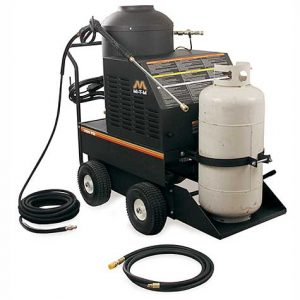 industrial duty, propane-powered, hot water pressure washer