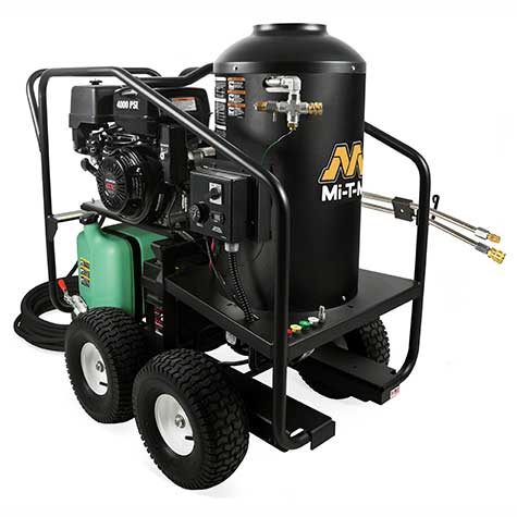 portable 12V hot water gas pressure washer