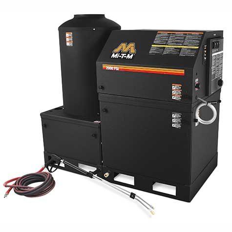 Hotsy HEG Series Power Washer for Wash Bay Setup